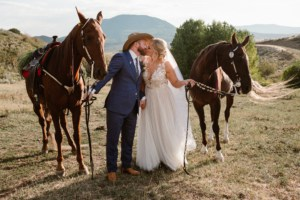 Bride and Groom Horses