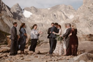 The first kiss at Colorado Wedding