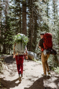 Colorado Hiking Elopement with flowers