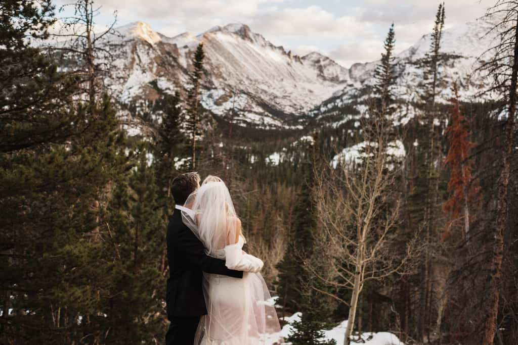 intimate wedding Rocky Mountain National Park