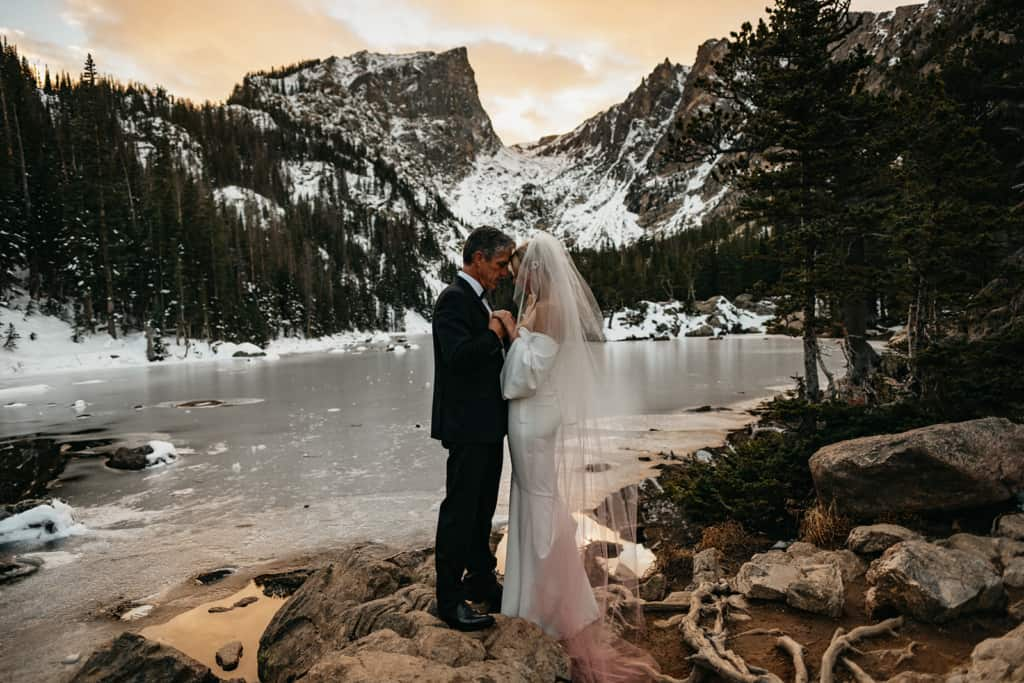 Dream Lake Elopement Sunrise