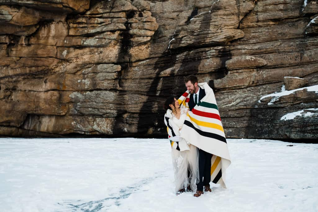 Blanket wrap Elopement