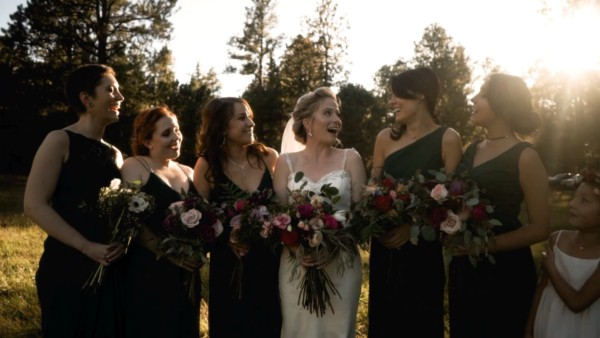 bridesmaids at la foret wedding venue