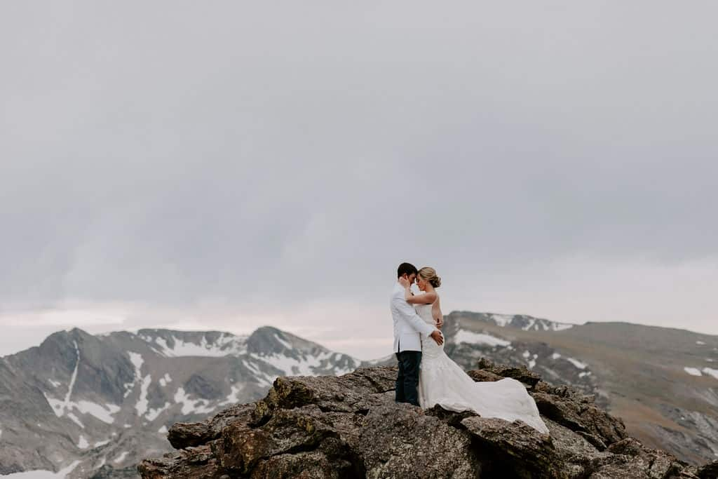 Mountaintop Couple with Colorado Elopement Package